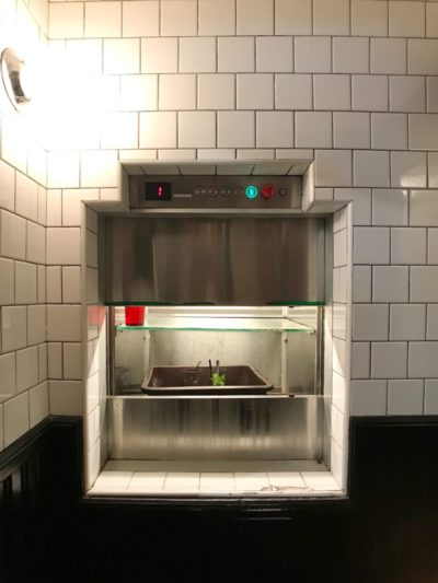 Manual 2-panel dumbwaiter car doors
